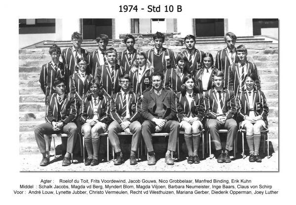1974 - Std 10 B