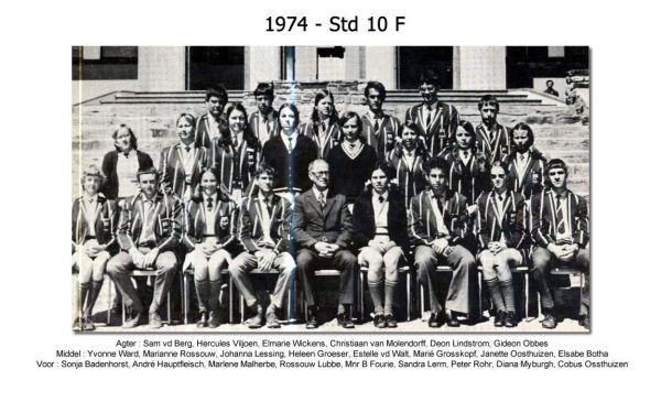 1974 - Std 10 F